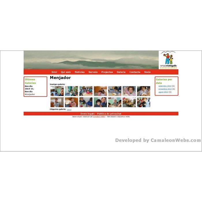 Pàgina galeria_menjador: ampamatagalls-com - projecte web de Camaleon Webs