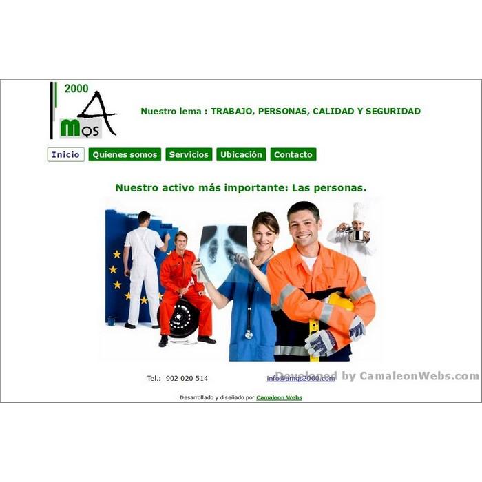 Pàgina inicio: amqs2000-com - projecte web de Camaleon Webs