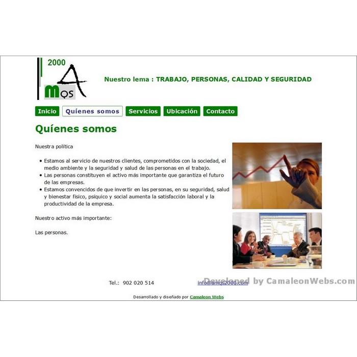 Pàgina quienes-somos: amqs2000-com - projecte web de Camaleon Webs