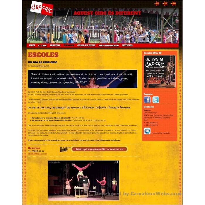 Pàgina escoles: circcric-cat - projecte web de Camaleon Webs