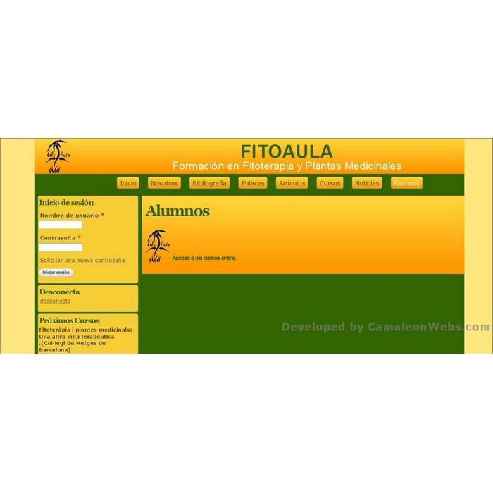 Pàgina alumnos: fitoaula-com - projecte web de Camaleon Webs