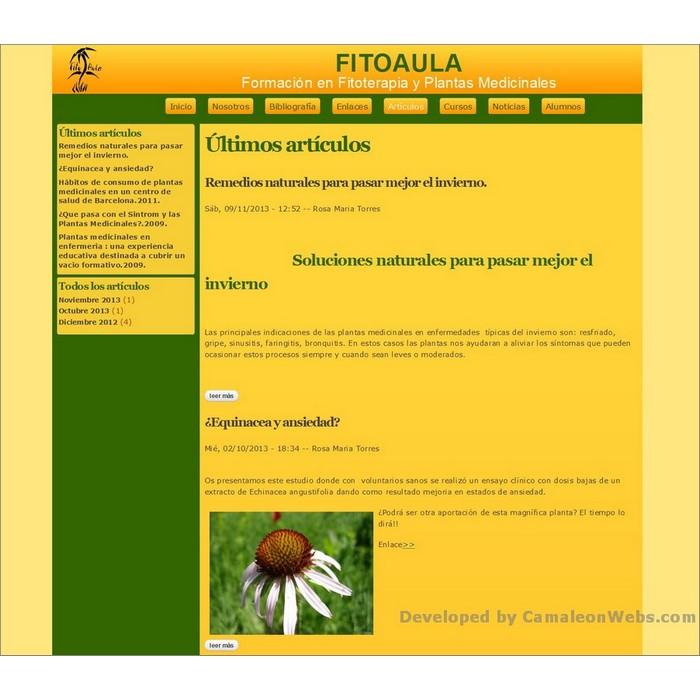 Pàgina articulos: fitoaula-com - projecte web de Camaleon Webs