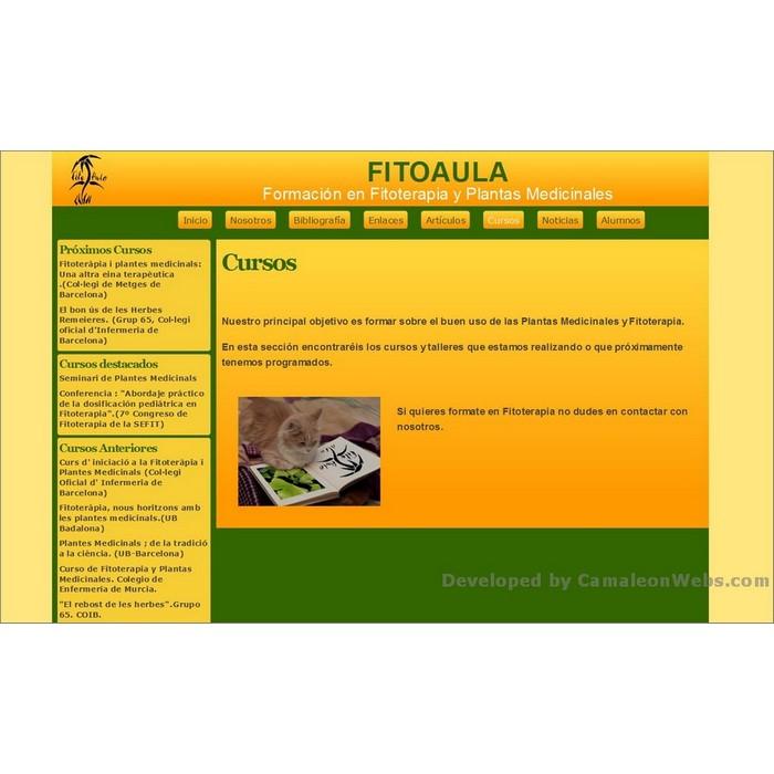 Pàgina cursos: fitoaula-com - projecte web de Camaleon Webs