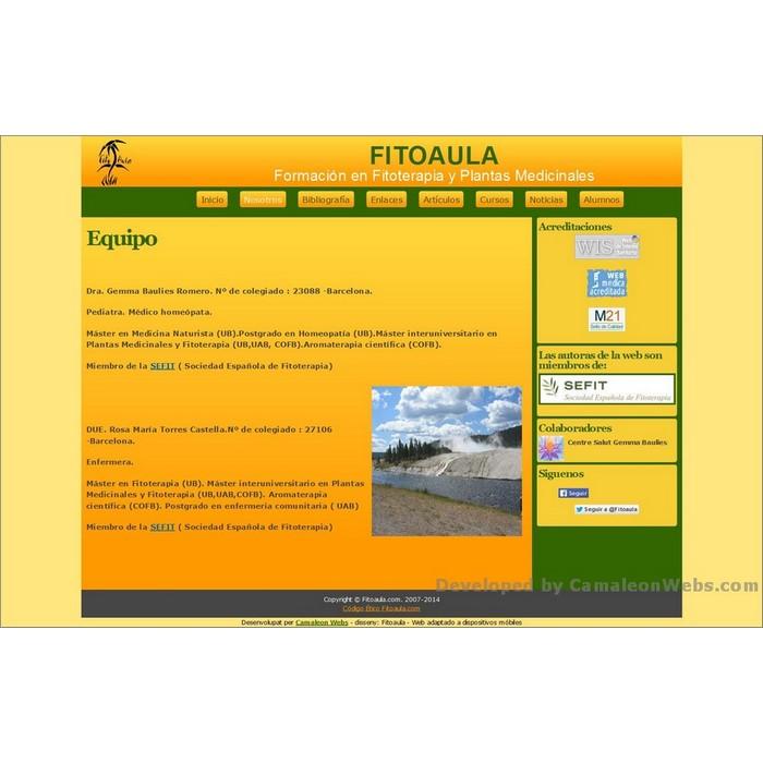 Pàgina equipo: fitoaula-com - projecte web de Camaleon Webs