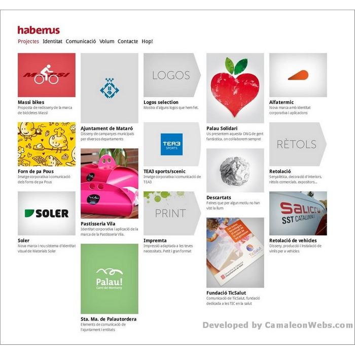 Pàgina inici: habemus-cat - projecte web de Camaleon Webs