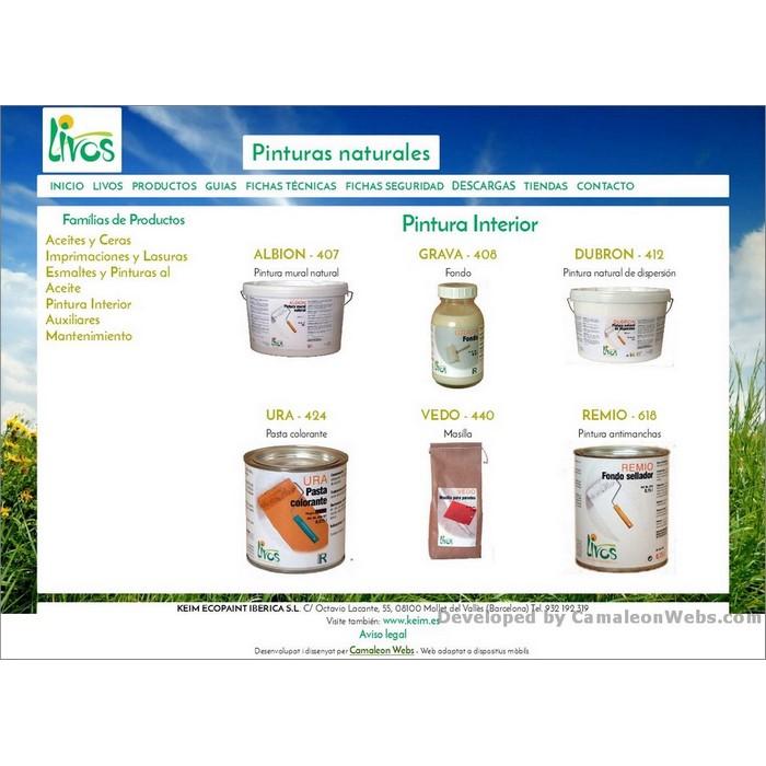 Pàgina productos_pintura-interior: livos-es - projecte web de Camaleon Webs