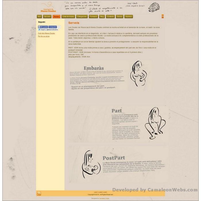 Pàgina que-oferim: maresdoules-cat - projecte web de Camaleon Webs