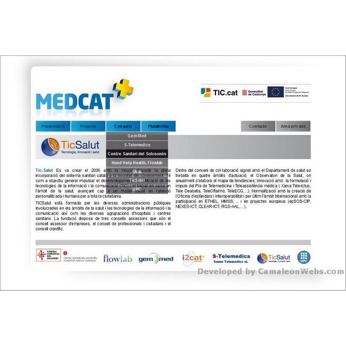 Pàgina consorci: medcat - projecte web de Camaleon Webs