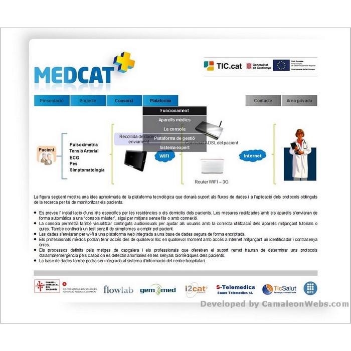 Pàgina plataforma: medcat - projecte web de Camaleon Webs