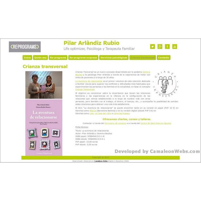 Pàgina crianza-transversal: pilararlandiz-com - projecte web de Camaleon Webs