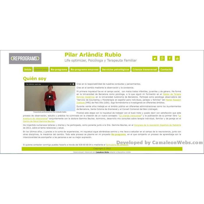 Pàgina quien-soy: pilararlandiz-com - projecte web de Camaleon Webs