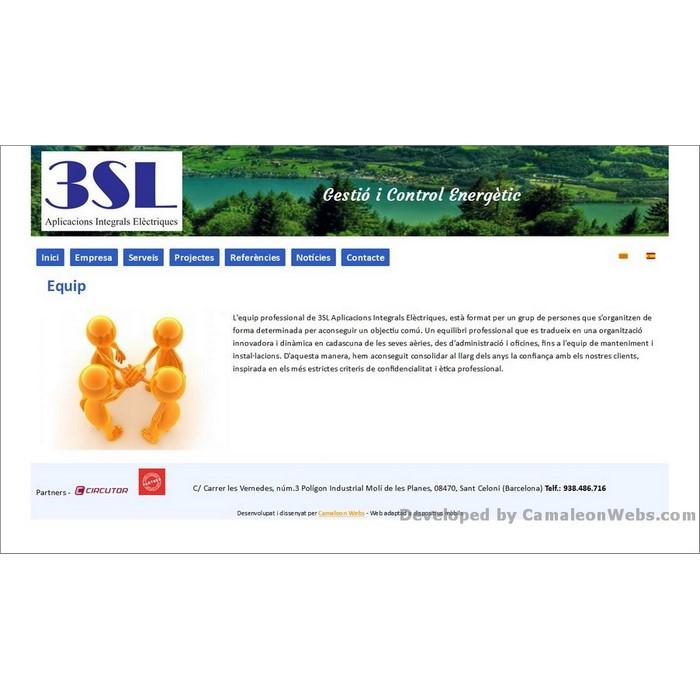 Pàgina equip: tressl-es - projecte web de Camaleon Webs