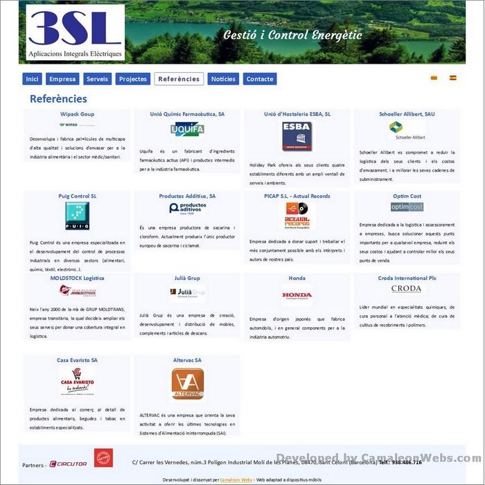 Pàgina referencies: tressl-es - projecte web de Camaleon Webs