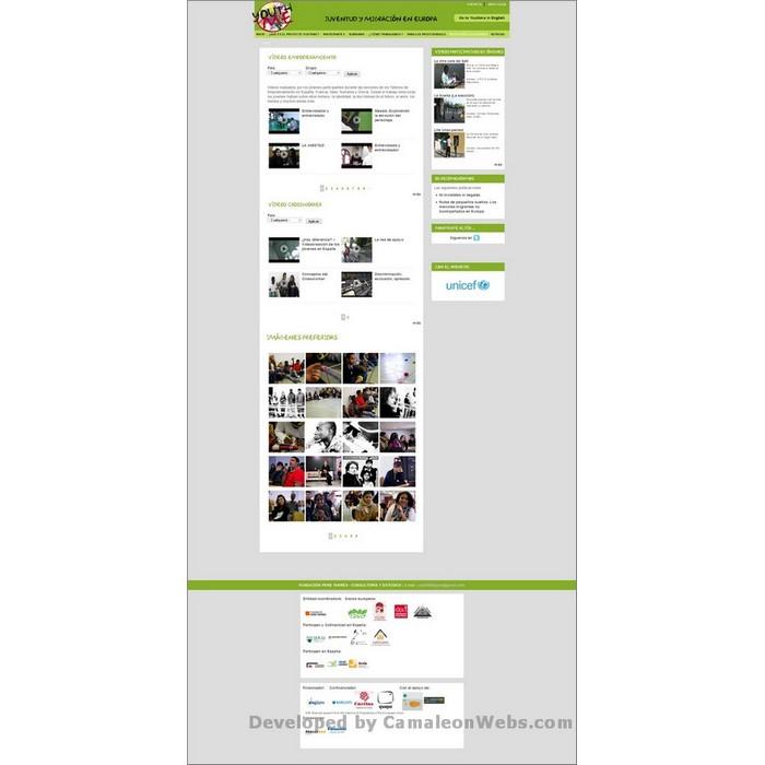 Pàgina galeria-videos: youthme-eu - projecte web de Camaleon Webs