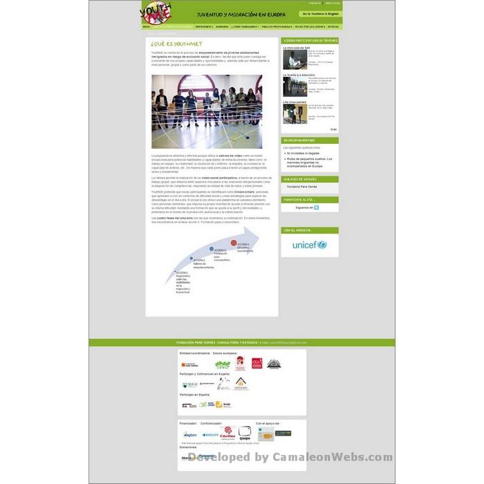 Pàgina que-es-youthme: youthme-eu - projecte web de Camaleon Webs